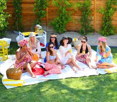 Palm Spring girls pool party