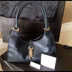 Gucci Jackie O Leather Handbag