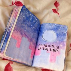 This is so pretty. Idk who did it specifically but I got it from  http://wreckthisjournal-ideas.tumblr.com