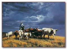 "Tim Cox - Western Art ""Ahead of the Storm"""
