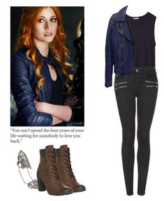 """Clary Fray - shadowhunters"" by shadyannon ❤ liked on Polyvore featuring T By Alexander Wang, Topshop, Arthur Marder Fine Jewelry, BCBGMAXAZRIA and Timberland"