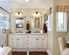 Black accents look nice with vanity and countertop colors.