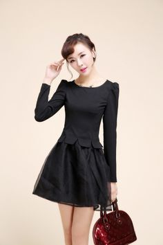 Baby e black dress long sleeve