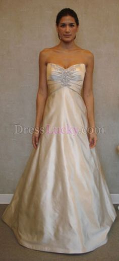 Organza Strapless Sweetheart Neckline with A line Skirt Spring ...
