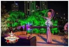 This fabulous photo was taken of one of our LED stilt characters at a recent Houston Event! wedding trends, corporate holiday party www.jdentertain.com