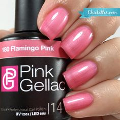 Pink Gellac #180 Flamingo Pink at Chickettes.com