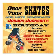 rollerskate party for boys | and roller skate with the smoking hot roller skating birthday party ...