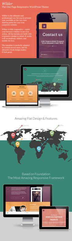 Wilder - Flat One Page Responsive WordPress Theme - WordPress