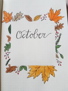 October monthly cover