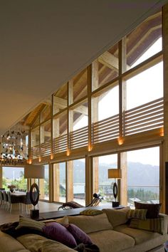 Chalet Solais – Swiss luxury ski chalet perched above the clouds in Villars, with Sir Norman Foster's architecture and Callender Howorth's interior design. Chalet Design, Chalet Style, Ski Chalet, Norman Foster, Above The Clouds, Winter Warmers, Cosy, Skiing, Centre