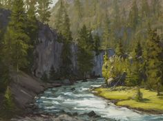 """""""Catch and Release"""" 9x12 depicts the Firehole River in Yellowstone National Park."""