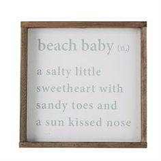 Beach Baby Definition Plaque   Living   Mud Pie