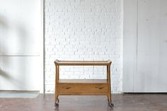Midcentury+Bar+Cart: Why belly up to the bar when it can be wheeled right over to you? This functional and fabulous bar cart is great for parties, receptions, styled shoots or office events!