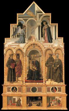 Polyptiek van San Antonio ~ 1460-1470 ~ Gemengde techniek op hout ~ Galleria Nazionale dell' Umbria