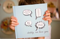 DIY Father's Day photo design book