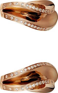 CARTIER PARIS NOUVELLE VAGUE EARRINGS  Pink gold, diamonds