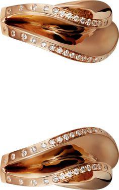 CARTIER PARIS NOUVELLE VAGUE EARRINGS  Pink gold, diamonds