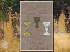 Indiana Jones movie poster retro poster movie print 11x17 Instruction Guide to The Last Crusade