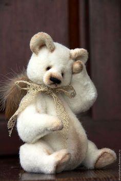 Мишки Тедди ручной работы. Ярмарка Мастеров - ручная работа. Купить Ангел Рождества  ( сидя 14 см) (мишки тедди). Handmade.