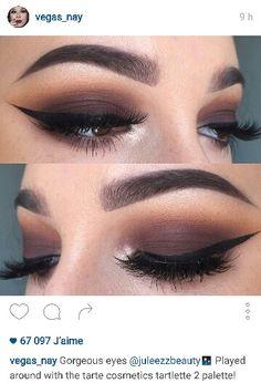 """Gorgeous eyes Played around with the tarte cosmetics tartlette 2 palette! Paired w/ grand glamour lashes ___ Makeup Goals, Love Makeup, Makeup Inspo, Makeup Tips, Flawless Makeup, Perfect Makeup, Prom Makeup, Wedding Makeup, Hair Makeup"