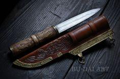 VIKING / SLAVIC Damascus pattern welded Knife. by BuDaiArt on Etsy, $280.00