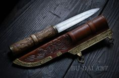 VIKING / SLAVIC Damascus pattern welded Knife. by BuDaiArt on Etsy, $280.00