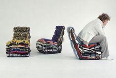 fauteuil réutilisation de tissus