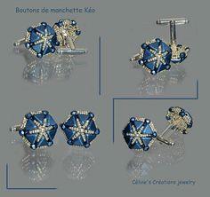 by Céline's Créations jewelry  Boutons de manchette Kéo