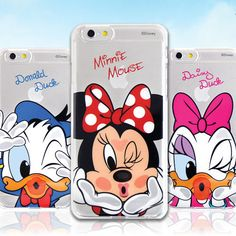 Authentic Disney Kiss Clear Hard Case Galaxy S6 6 Case Galaxy S6 Edge Case Korea #Disney