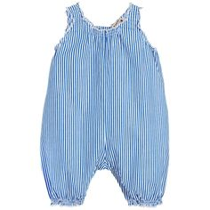 Caramel - Blue Striped Cotton Baby Shortie | Petit Outlet