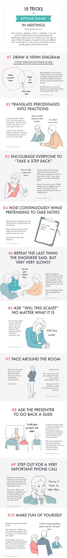 Too funny not to share: How to seem smart in meetings without really trying - The Washington Post #workplacehumor #work