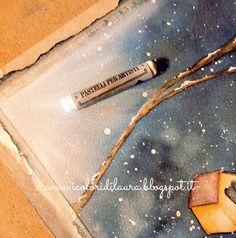 icoloridilaura: Come dipingere l'effetto neve...illustrazione di dicembre