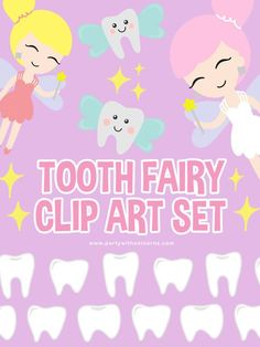 If you are planing a tooth fairy DIY or to make a tooth fairy certificate for your child, then this cute Tooth Fairy clip art set is perfect for you. These free clip art images are perfect for any  tooth fairy crafts or tooth fairy ideas that you might want to create.  tooth fairy preschool, tooth fairy printable, tooth fairy printable free Dinosaur Party Invitations, Superhero Invitations, Tooth Fairy Images, Tooth Fairy Certificate, Unicorn Poster, Cute Tooth, Valentines Gift Box, Unicorn Valentine, Fairy Crafts