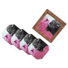 Garima Dhawan New Friends 4 Coaster Set | DENY Designs Home Accessories #pantone #coloroftheyear #radiantorchid