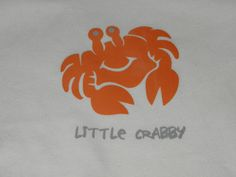 Little Crabby Baby Onesie 612Month Size by SewWhatDesignsHome, $10.00