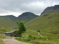 """Approaching Black Sail YHA, Wainwright describes Black Sail as """"the loneliest and most romantic of youth hostels"""""""