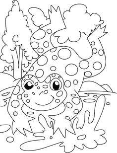 find this pin and more on great school ideas frog count the spot coloring pages