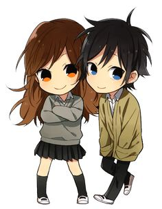 evensoul:  transparent chibi hori and miyamura!