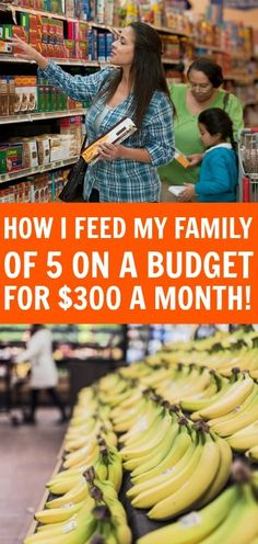 How to feed a family of 5 for $300 a month - Your family can eat good without breaking the bank, learn how I feed my family on a budget each month.