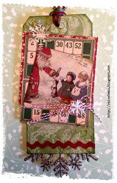 Vintage style Christmas card