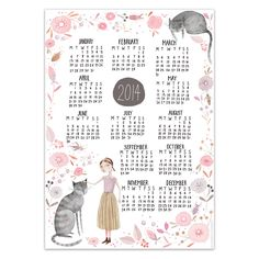 ? Super cute year at a glance calendar for 2014? Professionally printed on 100lb cover weight card stock? Looks great framed or pinned to the wall? Measures 12x17 Inches? Comes packaged in a protective sealed plastic sleeve and will be shipped in a rigid envelope via USPS First Class Mail.This item is available for pre-order and will be shipped in two to three weeks.