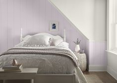 Color of the Month: Dusty Lilac Home Bedroom, Bedroom Wall, Bedroom Decor, Girls Bedroom, Lavender Paint, Lavender Walls, Lilac Walls, White Walls, Lilac Bathroom