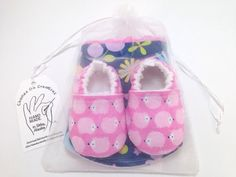 Hedgehog Baby Shoes and Bib Gift Set with by CharleeOhCreations