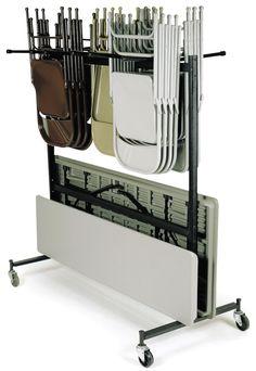 Storing Folding Tables Folding Chair Storage Rack Garage
