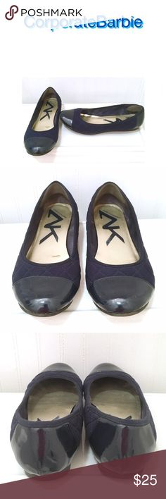 Navy Quilted Flats Navy quilted flats from Anne Klein Sport. Cap toe design dresses them up a little. Size 7. In excellent preloved condition. Only worn a handful of times. Originally $70. Anne Klein Shoes Flats & Loafers