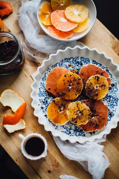 Cinnamon Cayenne Citrus Salad with Cacao Nibs via will frolic for food.