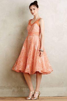 at anthropologie Calendula Dress - orange