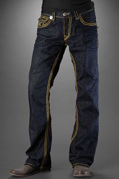 These jeans from True Religion look great with a pair of boots. Show off what you've got!