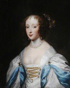 Jane Carey (1594–1633), Wife of Edward Barrett, Lord Newburgh ( previously thought to br Queen Henrietta Maria) by Cornelis Janssens van Ceulen