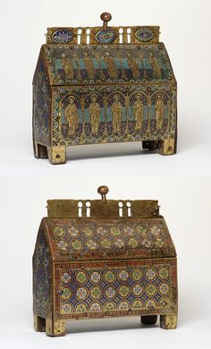 Reliquary casket, made in Limoges, France, 1185-1195
